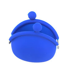 Women Silicone Round Coin Purse Wallet Portable Lady Card Key Phone Bag Case(China)