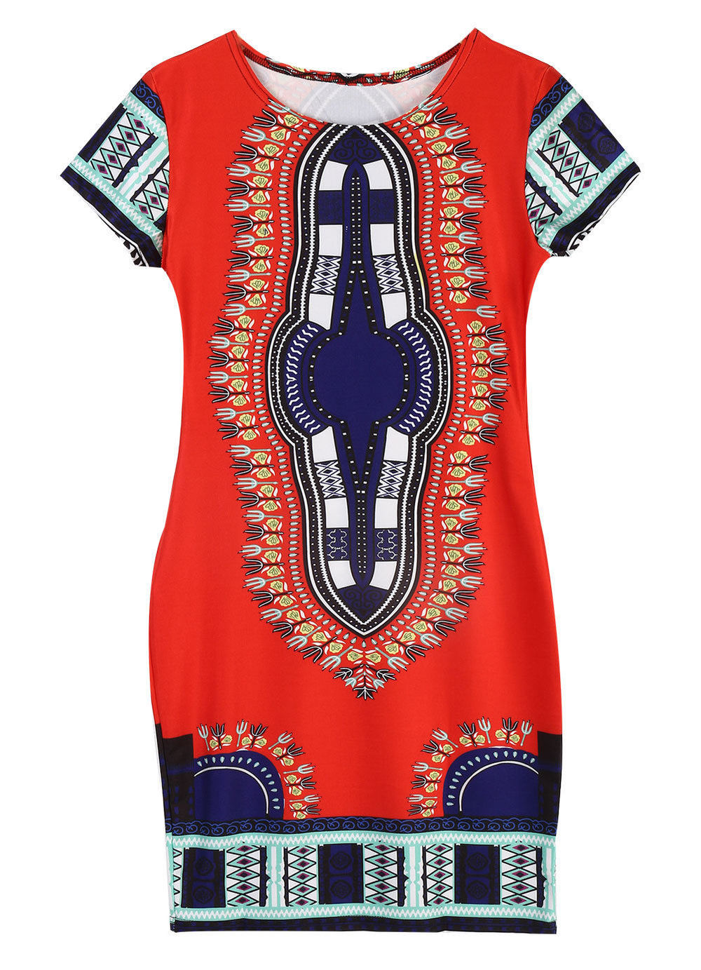 614817bf3b2 Fashion Womens Traditional African Print Dashiki Bodycon Sexy Short Sleeve  Slim Women Dress Festival Gift-in Dresses from Women s Clothing on  Aliexpress.com ...