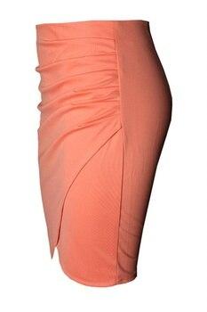 New Split Vintage Mini Bodycon Skirt High Waist Women Pencil Skirt Solid Elegant Lady OL Office Skirts For Female XS-XXL 6