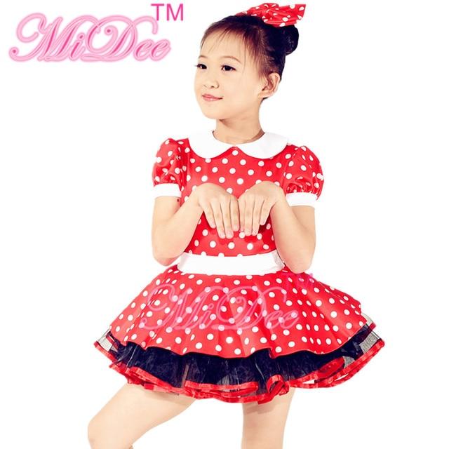 88ce97ec2 MiDee Character Costume Polka Dots Dance Dresses Stage Dance Wear ...