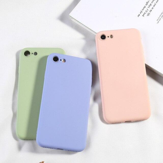 סיליקון מקרה עבור iPhone 7 8 6 6 s בתוספת X XR XS מקסימום מלא כיסוי רך TPU סיליקון מגן בחזרה טלפון מכסה עמיד הלם Fundas