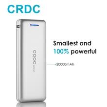 Crdc литий-полимерный Baterías portátiles 20000 мАч мини внешний Батарея Портативный мобильный Быстро Dual USB Мощность банка для iPhone 7 6 s Samsung Tablette