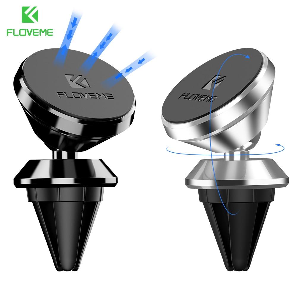 FLOVEME 360 Magnetisk biltelefonhållare GPS Navigatorfäste för iPhone Samsung stativhållare Support för telefonbilsstyling