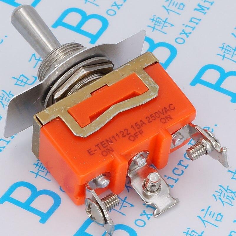E-ten1122 interrupteur à bascule 3 pieds secoué sa tête interrupteur à bascule alimentation