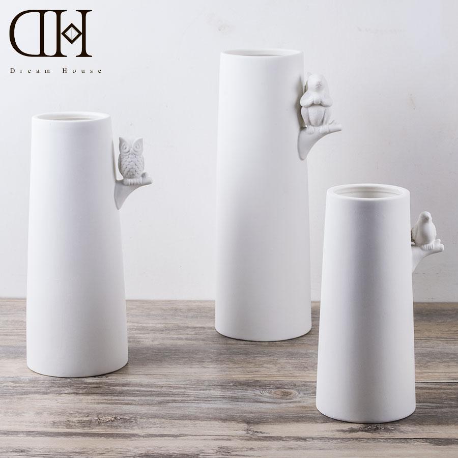online buy wholesale modern white vases from china modern white  - dh modern white ceramic vase home decorative china porcelain flower bottlexmas decoration handmade vase tree