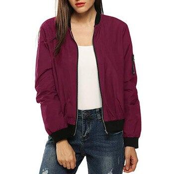 Summer Women Windbreaker Jacket New Fashion Women Thin Basic Bomber Jacket Long Sleeve Coat Casual Female Jacket Outerwear 1