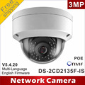 Бесплатная доставка DS-2CD2135F-IS заменить DS-2CD2132F-IS и DS-2CD2132-Я H265 IP сетевая купольная poe камеры аудио IPC CCTV