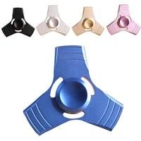 Stress Wheel EDC Tri-Spinner Fidget Toys Pattern Hand Spinner Metal Fidget Spinner and ADHD Adults Children Educational Toys