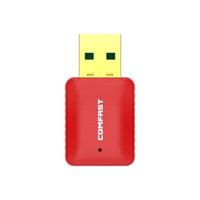 Carte réseau sans fil Comfast 600 Mbps USB 2.0 double bande 2.4G/5 GHz adaptateur WiFi sans fil Signal réseau