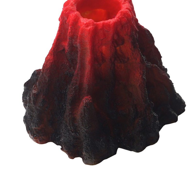 Fish tank ornament Simulated volcanic rock Oxygen increasing LED lamp Aquarium landscaping ornaments with air pump or not