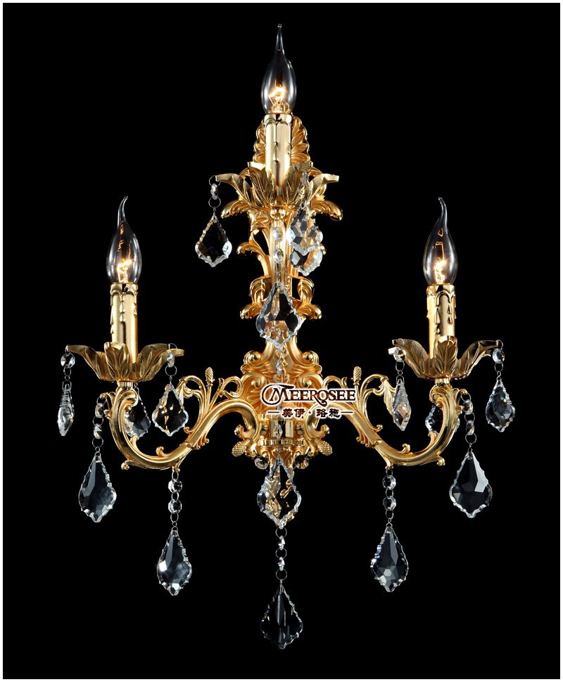 Luxurious K9 Crystal Wall Light Gold Or Silver Color Wall Sconce Lamp Crystal Wall Brackets Lustre For Living Room Bedroom Hotel