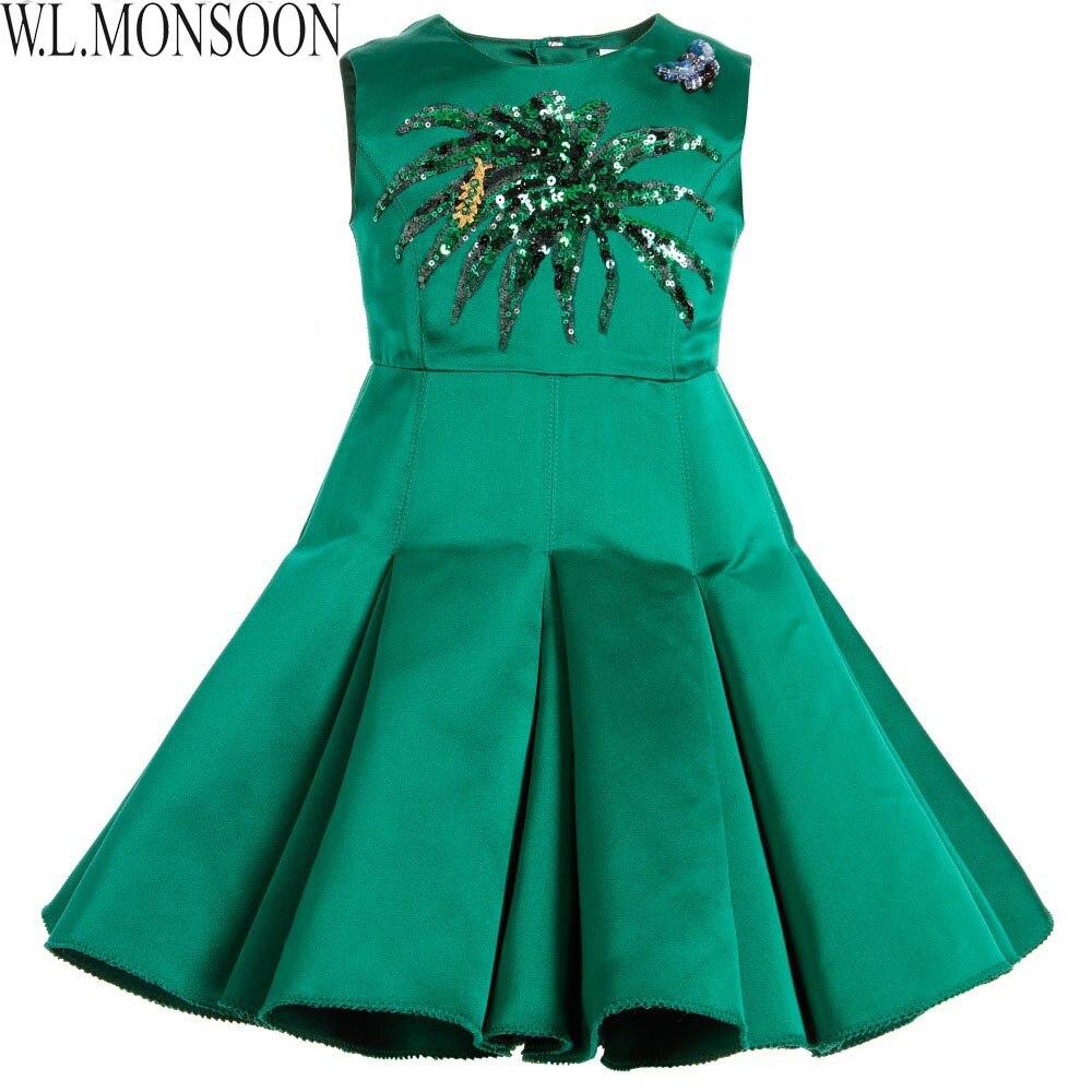 44245fbc8 W.L.MONSOON Girls Winter Dresses Clothes Kids Costumes Princess ...