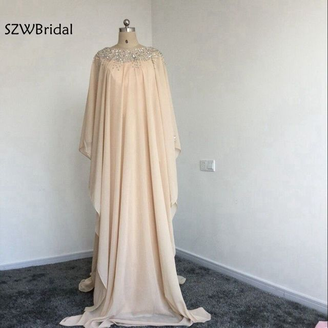 New Arrival Chiffon Dubai Kaftan Evening Dress 2018 Saudi Arabia