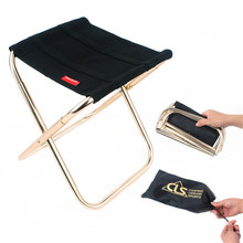 Aotu складной алюминиевый стул сиденье для рыбалки кемпинг открытый складной рыболовный стул ультра портативный светильник