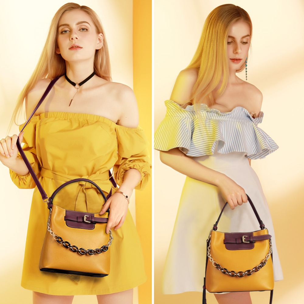 Bagaj ve Çantalar'ten Omuz Çantaları'de FOXER Marka Kadın Moda postacı çantası Kadın Yeni Tasarım Kova Çanta Deri Büyük Kapasiteli Çanta sevgililer Günü hediyesi'da  Grup 2