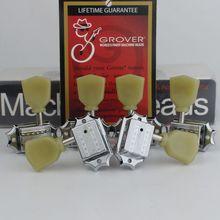 Grover kołki do tuningu Deluxe Vintage Style 135 klucze gitarowe tunery do lespaula Guitar Chrome srebrzyste wykonane w chinach
