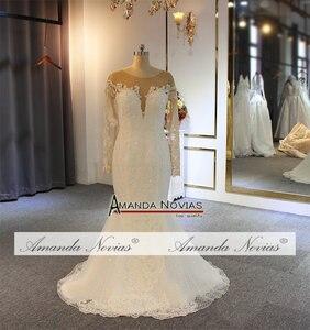 Image 5 - Robe de soiree 2019 del merletto della sirena abito da sposa con staccabile pannello esterno