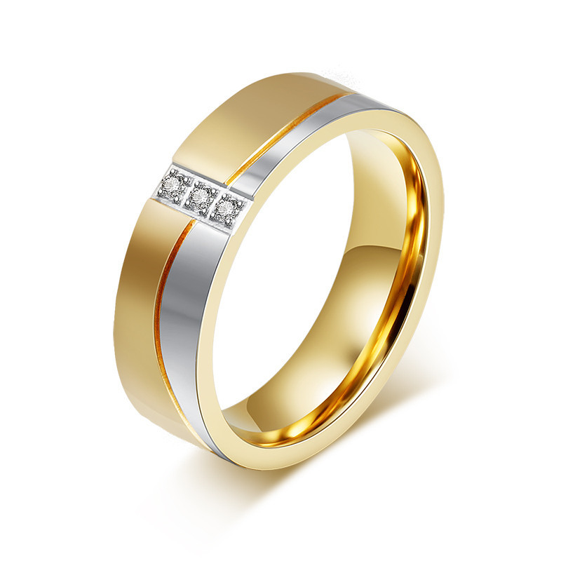 Modyle New Fashion Gold Color Wedding Rings For Men And Women ...