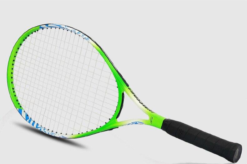 Детская Теннисная ракетка для учеников начальной и средней школы, начинающих, полностью углеродная ракетка, спортивные товары для обучения детей