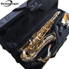 100% sevenangelブランドテナーサックスbbトーン木管楽器シルバー & ゴールド表面提供oemサックス