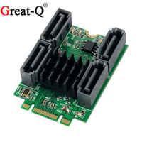 Great-Q M.2 (PCIe) B + M emplacement pour clé vers 4 ports SATA 6G adaptateur Marvell 88SE9235 chipest livraison gratuite