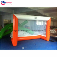 Football shooting game air tight inflatable soccer gate,water beach toys 3*1m inflatable soccer goal court for kids