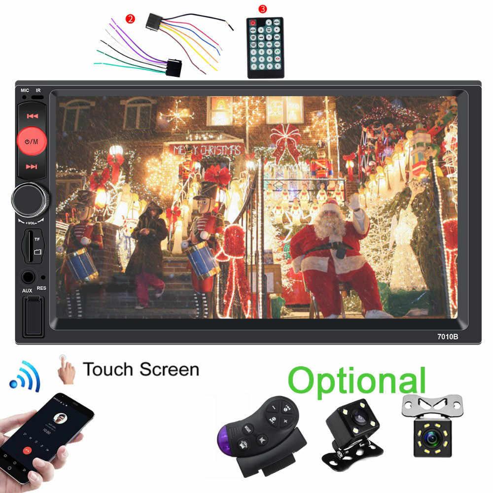 MP5 車 RadioHD 7 インチのタッチスクリーンの自動オーディオステレオ Bluetooth 中央マルチメディアプレーヤー Ir 後姿カメラ Autoradio