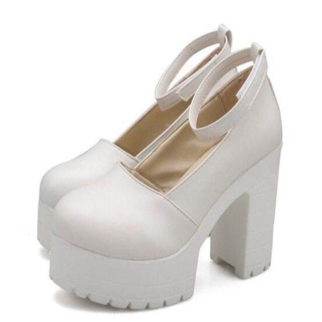 818f0bb3b 2019 primavera señoras calzado Casual tacones gruesos zapatos de plataforma  para las niñas y las mujeres