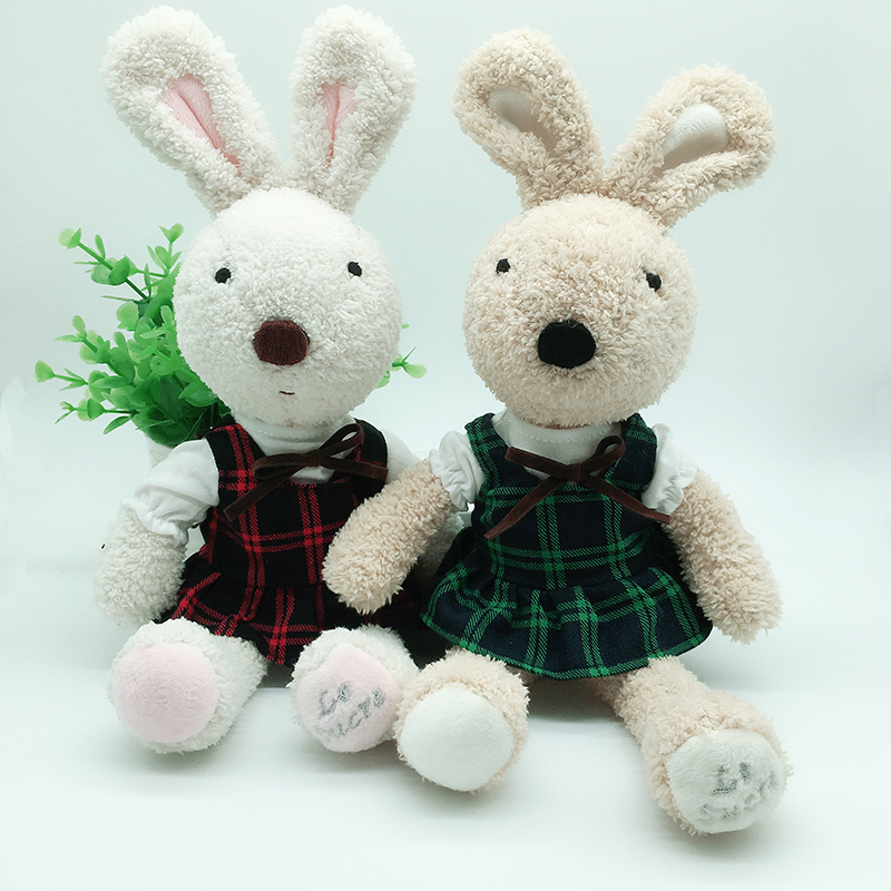 Kawaii Rabbit Plush Dolls With Change Clothes Stuffed Animal Soft Toys For Child