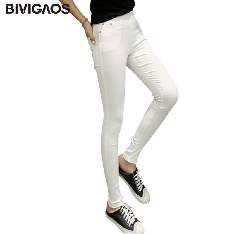 2018 Nové módní Euramerican Skinny Jeans Sexy elastické legíny kapsy High Elastic Denim Pencil Pants Slim Tenké kalhoty pro ženy
