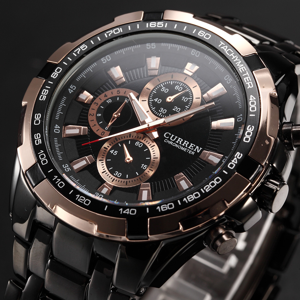 2018 CURREN Tag Brand Men Fashion Sport Analog Watches Men's Casual Quartz Clock Male Full Stainless Steel Military Wrist Watch golden silver transparent hollow dial quartz men wrist watch stainless steel band casual sport watches man analog male clock gif page 9