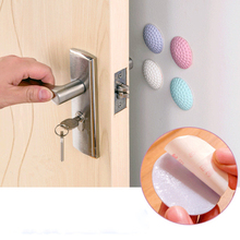 Protection Baby Safety Silent Door Rear Stickers Rubber  Cushion Wall Anti Collision Mat Doorknob Crash Pads Handle Bumpers 1pcs golf rubber silicone door handle knob crash pad wall protectors buffer anti collision doorknob lock crash pads hg0377
