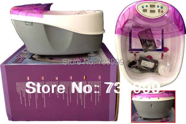 Professional ion detox foot bath spa combined foot basin with high quality FIR belt wristband and