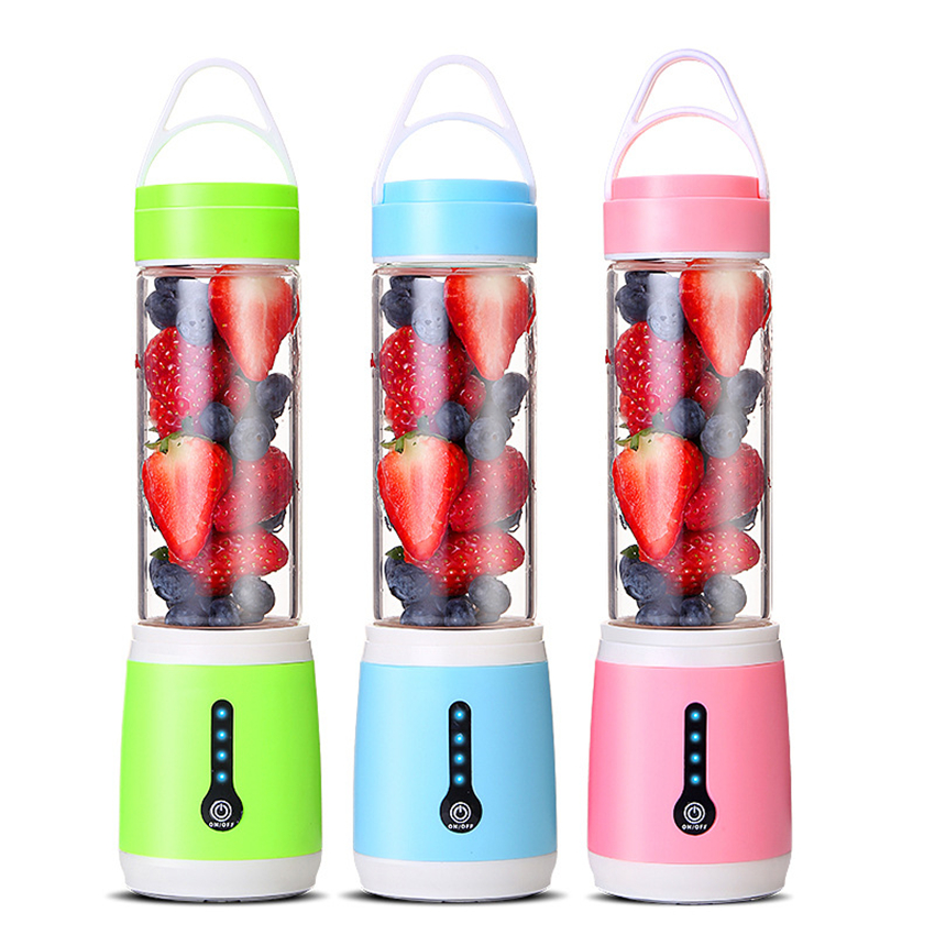 Multifunction juicer 480ml Household Hand Blender mixer mini USB Rechargeable portable