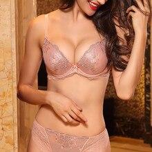 Lilymoda נשים דק חזיית חוטיני סטים סקסי רקמת תחרה נשי חזייה הלבשה תחתונה T גב תחתונים ללא תפרים תחתונים קצר סט