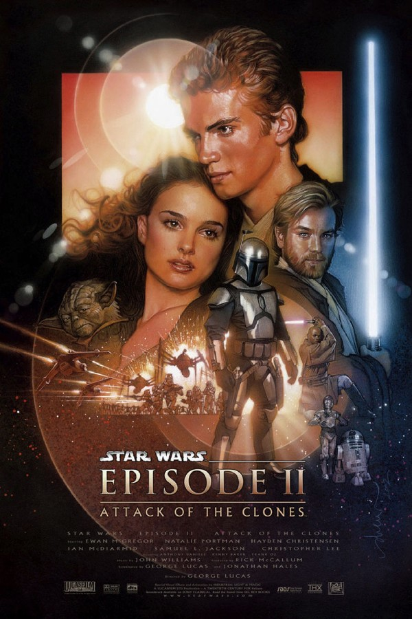 DIY frame Star Wars: Episode II Attack of the Clones Classic Movie Film Home Decor posters art silk Fabric Poster NNBCV image