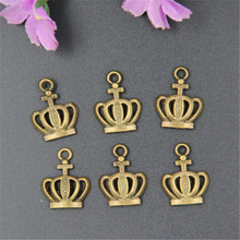 Metal Charm 45pcs Bronze Crown Jewelry Pendant