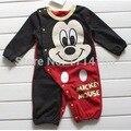 Apertura de Mickey Mamelucos Del Bebé Pijamas trajes de Cuerpo de Dibujos Animados Ropa de Bebé Envío Gratis
