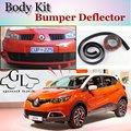 Deflector de Labios Lip Bumper Para Renault Captur/Samsung QM3 Frente alerón Falda Para TopGear Amigos Tuning/Kit de Carrocería/Strip