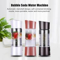 Portable Source Sparkling Water Maker Bubble Machine Mini Carbonated Soft Drink Travel Juice Soda Maker Spritzers Spritzers