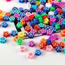 9 мм100 шт/партия Fimo роза бисер полимерная глина бусины полимерные бусины из глины Смешанные цвета Сделай Сам Детские ювелирные изделия