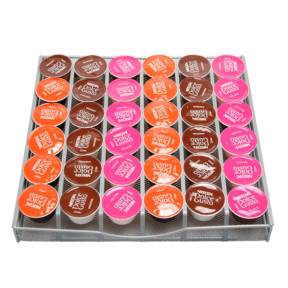 Coffee-Pod-Drawer-Storage-36-Dolce-Gusto-Capsules-Stainless-Steel-Stand-Rack-Metal-Shelves-Organization-Drawer