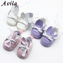 1 Pair Doll Shose 7cm for 43cm born baby Dolls shoes for Reborn Bebe Doll shoes 18 inch girl doll cute shoes(China)