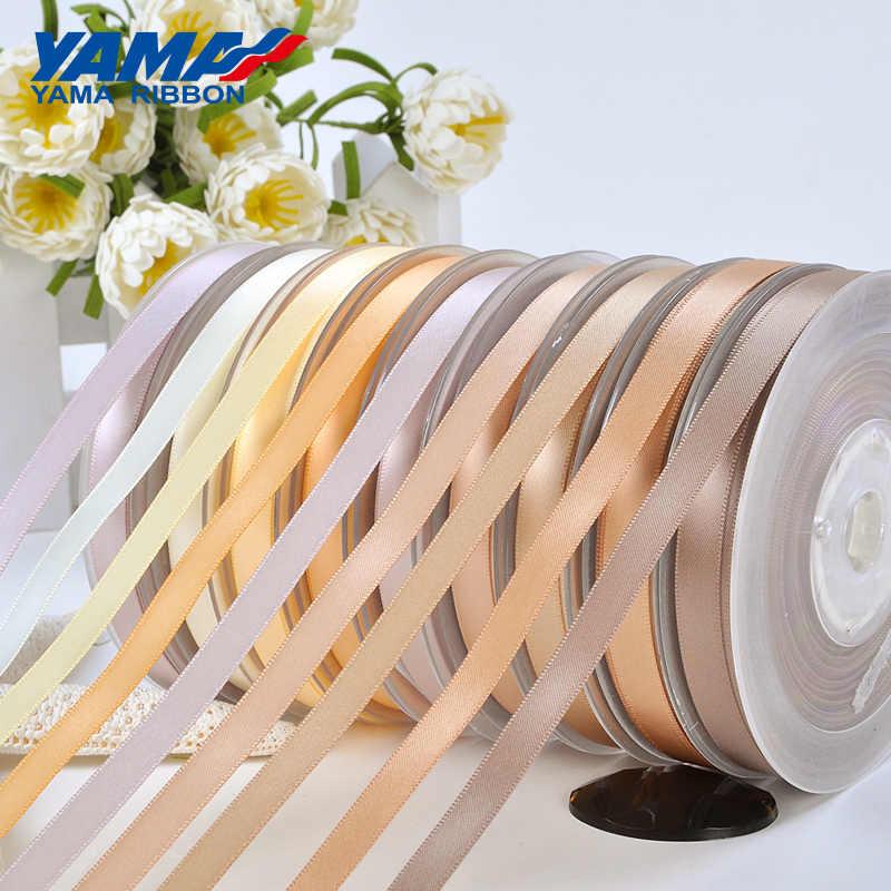 יאמה 25 28 32 38mm 100 מטר/הרבה יחיד הפנים סאטן סרט כהה חום עבור מסיבת חתונה קישוט בעבודת יד עלה פרחי מתנות