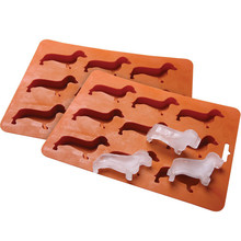 Dropshipping Dachshund Ice Cube Tray Silicone Dog Shape Mold  Candy Ma