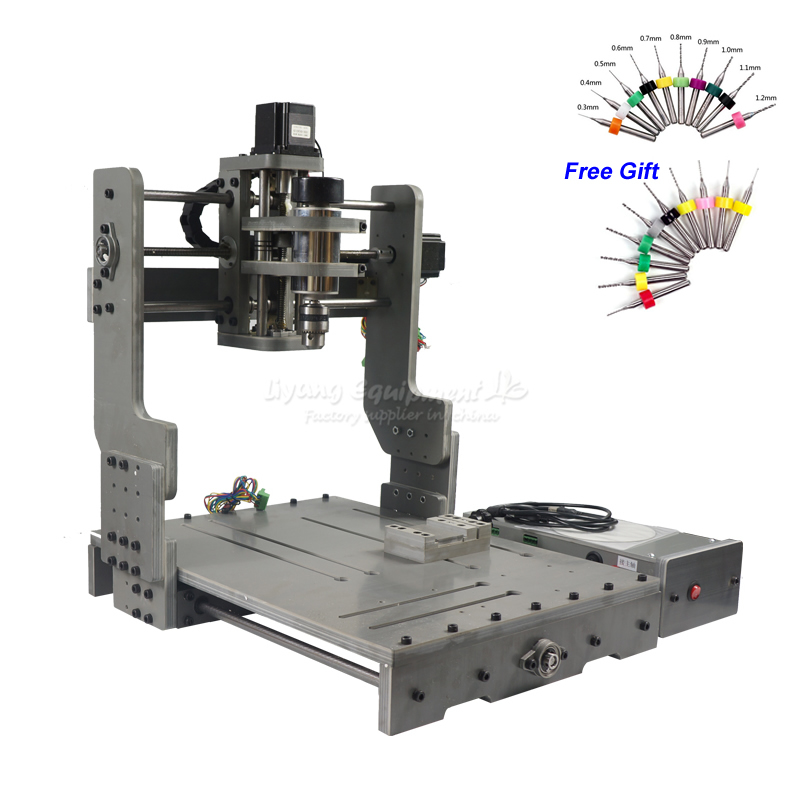CNC 3040 300 W DC puissance broche moteur CNC Machine de gravure routeur de forage avec axe rotatif
