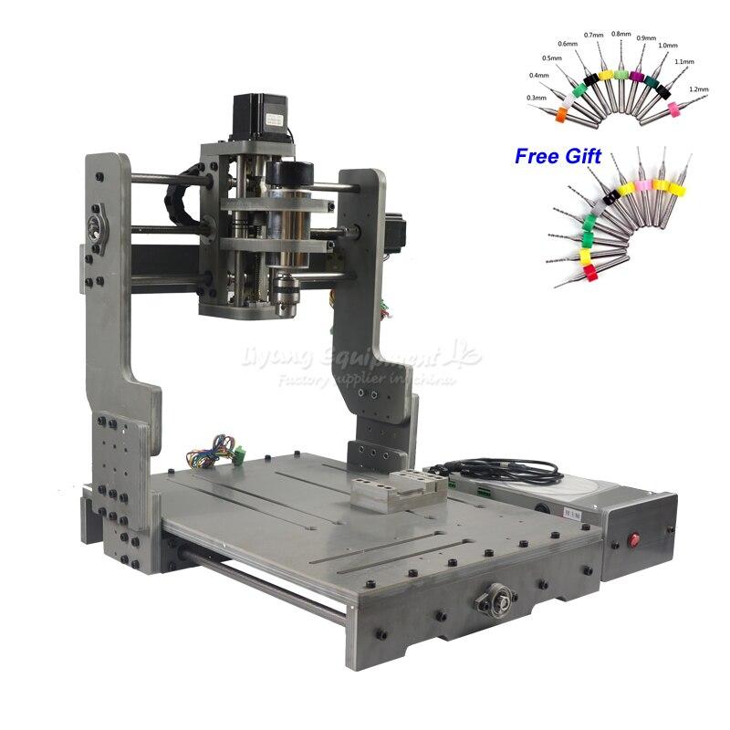 CNC 3040 300 w DC Potenza Motore Mandrino Macchina Per Incidere di CNC di Perforazione Router con Asse Rotante