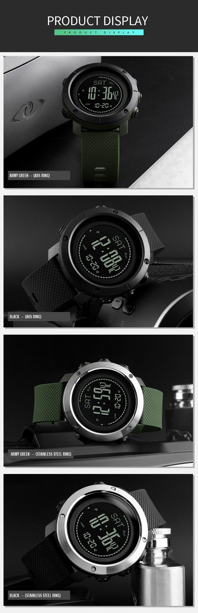 a8f2e2d5fa32 Azul del reloj SKMEI marca Mens relojes deportivos altímetro ...