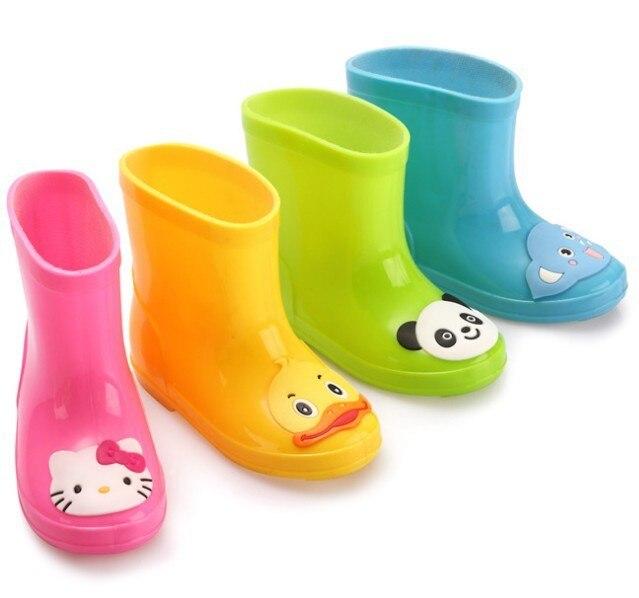 2017 детей весна осень мальчики девочки baby дети носорога конфеты цвет с лягушка cat кролик дождь сапоги непромокаемую обувь n5263