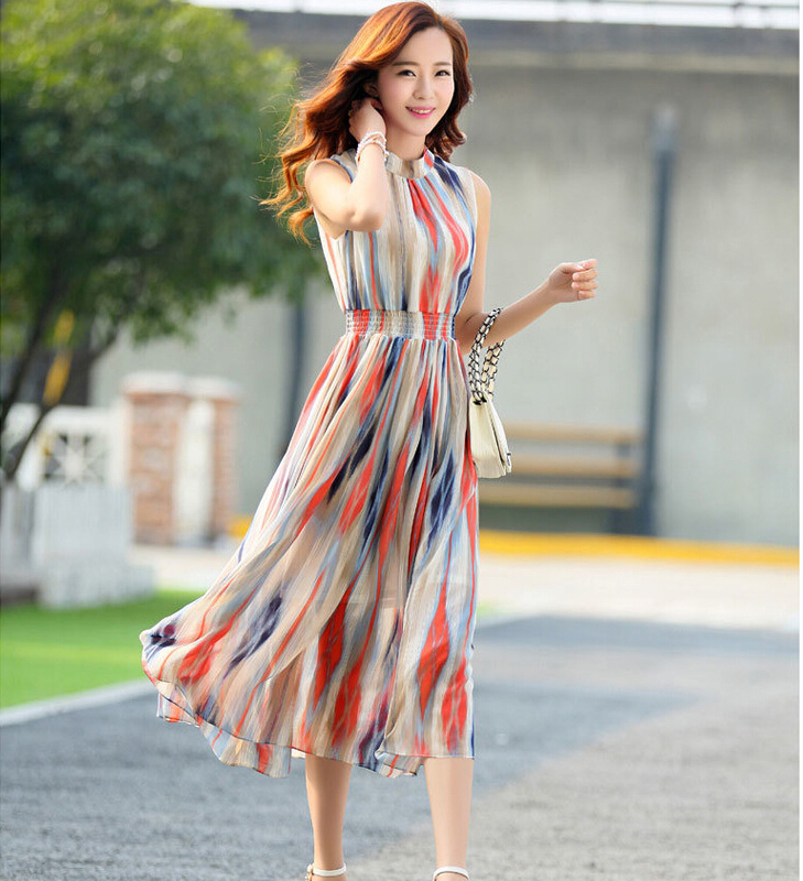 Aliexpress.com  Buy 2016 NEW Design Girls Nice Summer Chiffon Long Dresses Womenu0026#39;s Causal ...